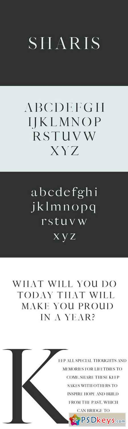 Sharis Serif Typeface 1682676
