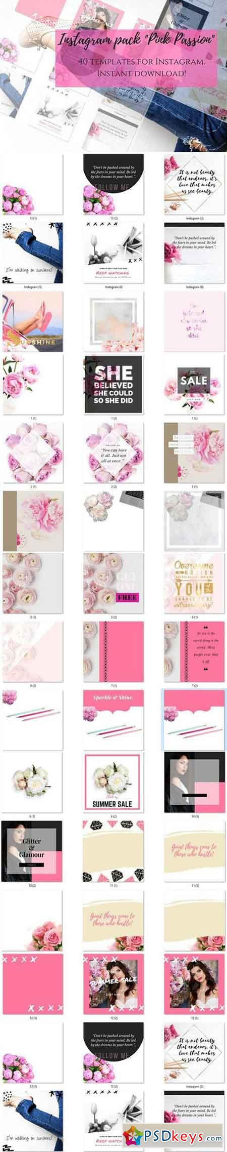 Instagram pack Pink Passion 1686990
