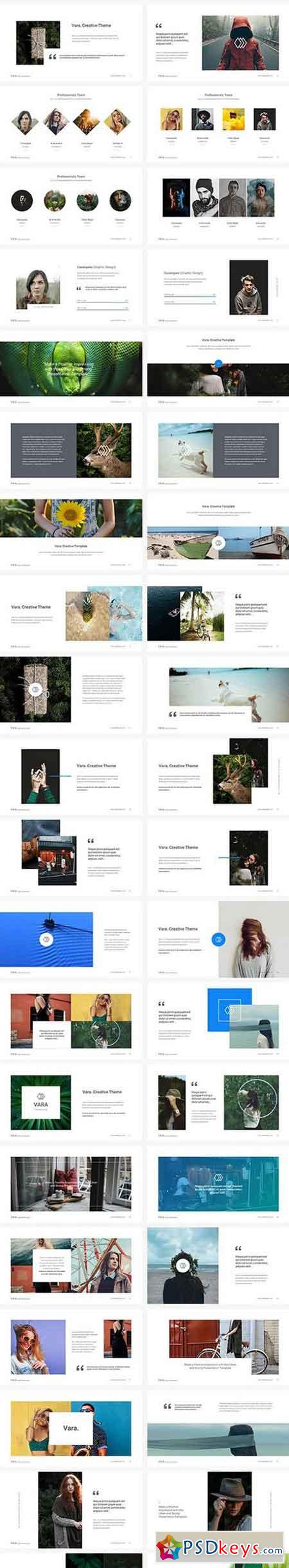vara - creative keynote template 1698894 » free download photoshop, Powerpoint templates