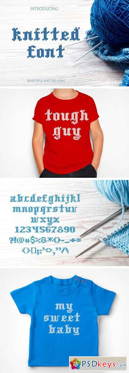 Knitted Font 1723466