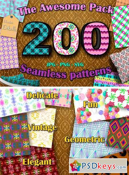 THE AWESOME PACK - 200 Patterns 1724936