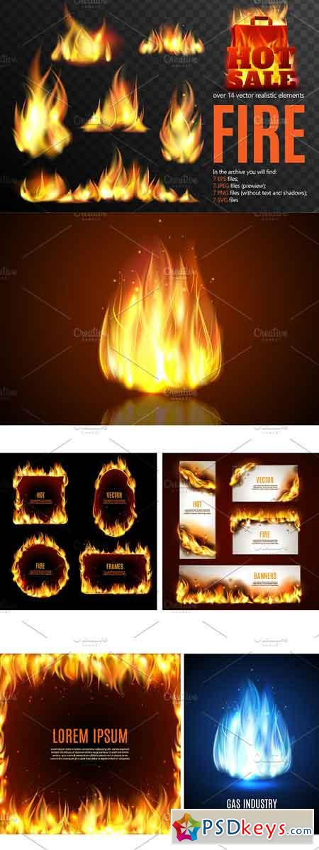 Fire Realistic Set 1755152