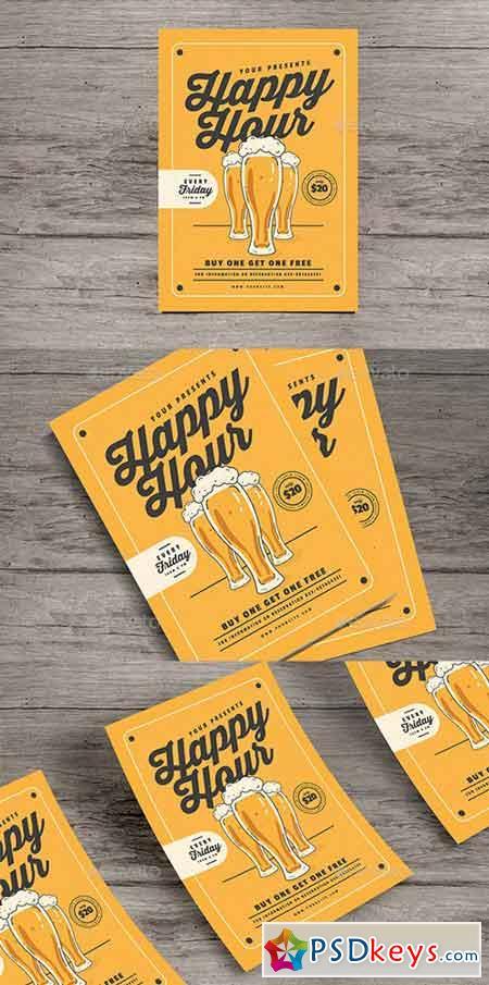 Happy Hour Beer Flyer 20483146
