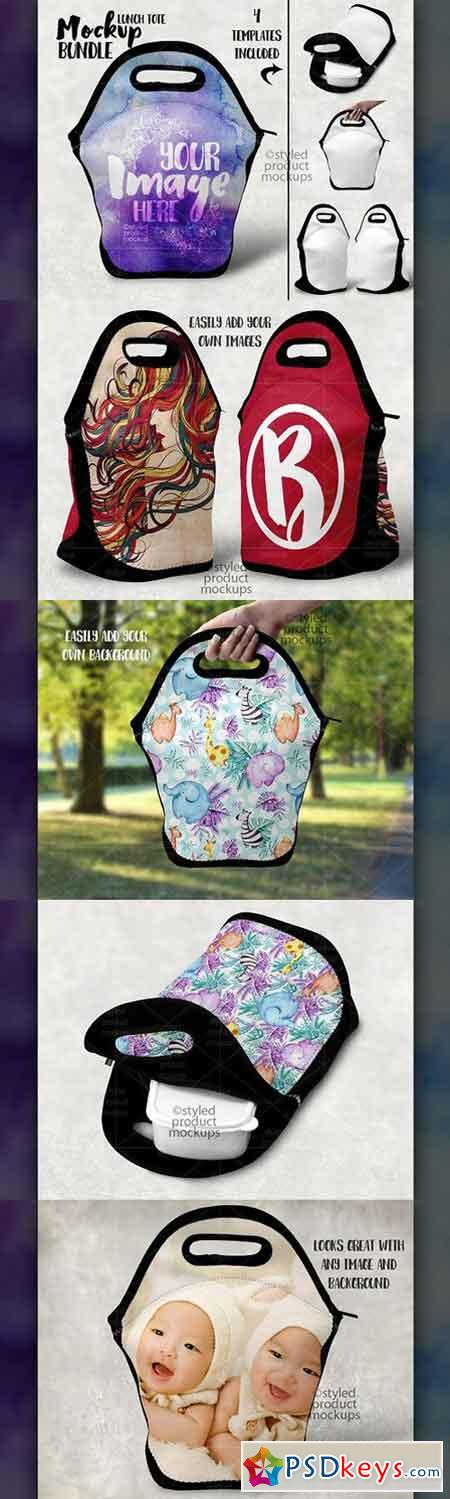 Double Sided Lunch Tote Mockup 1711854