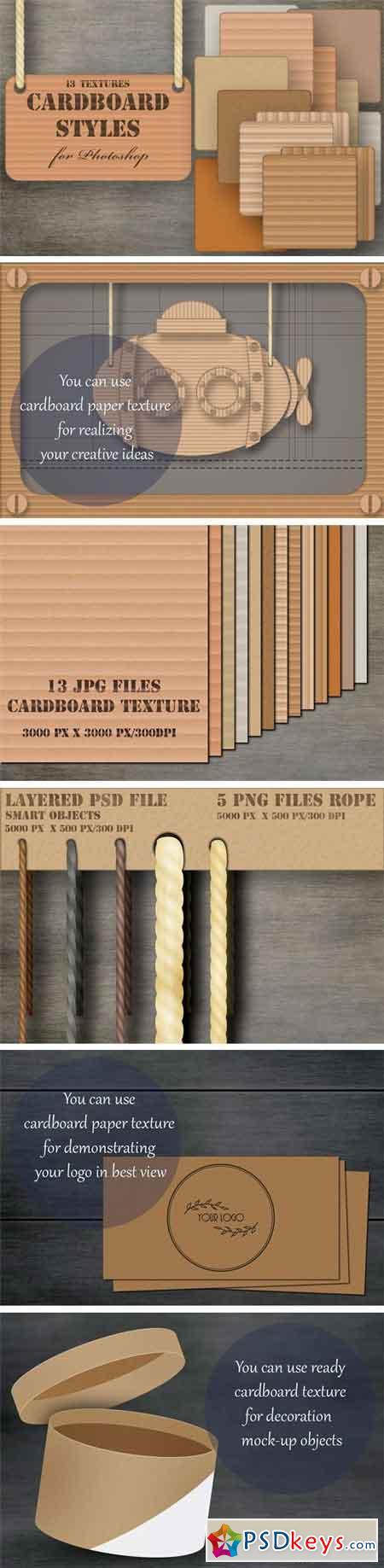 Cardboard Layer Styles Collection 1741028