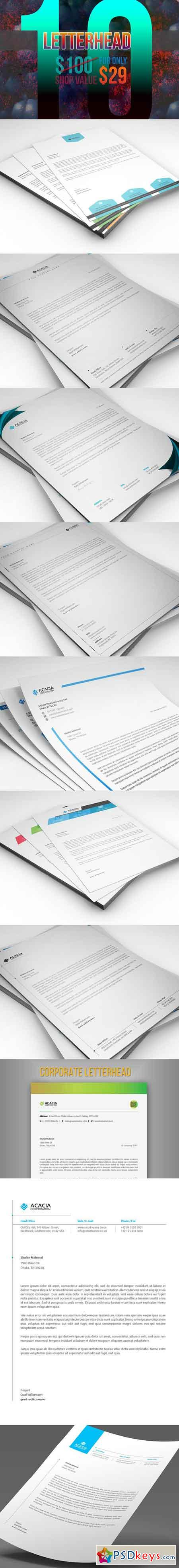 10 Letterheads (Bundle) Only $29 1766145