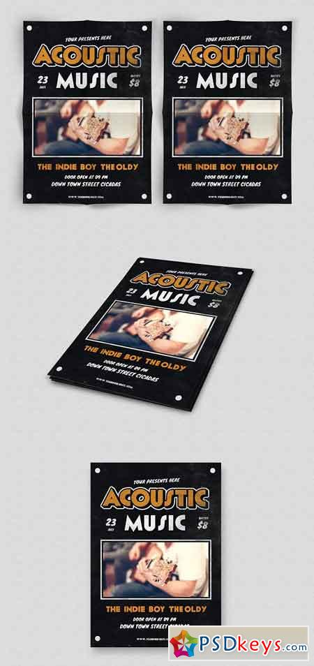 Acoustic Music Flyer 1754670