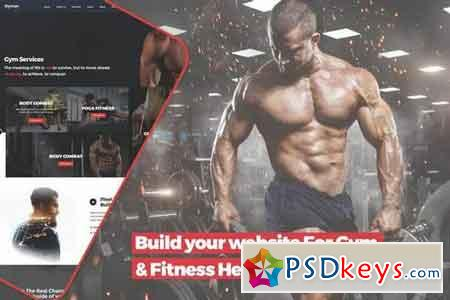 Build your website For Gym & Fitness Health center PSD Template