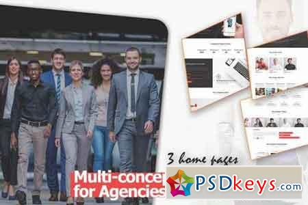 Multi-concept Design for Agencies and Freelancers PSD Template
