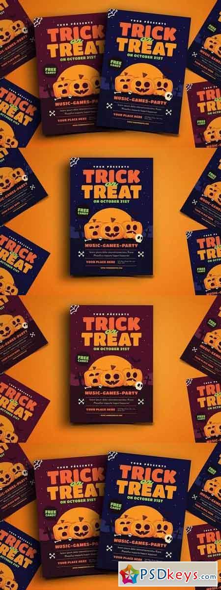 trick or treat halloween event flyer - Halloween Party Music Torrent