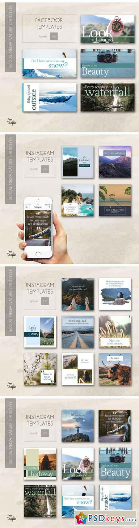Nature Lifestyle – Social Media Pack 1740991