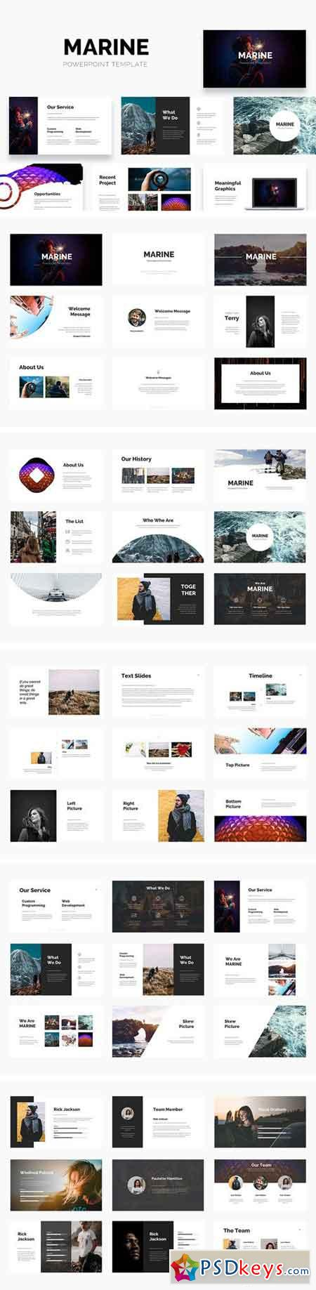 MARINE - Powerpoint Template 1741276