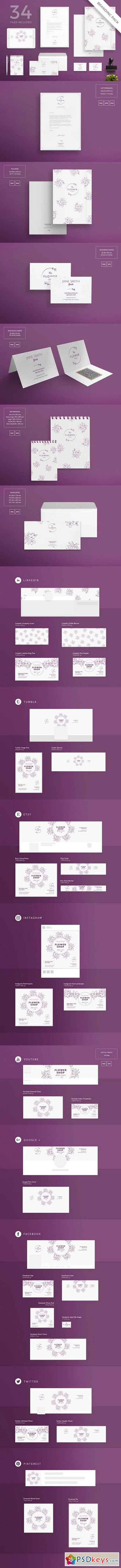 Branding Pack Flower Shop 1495431