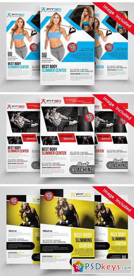 10 Fitness Flyer Bundle Vol.01 1740358
