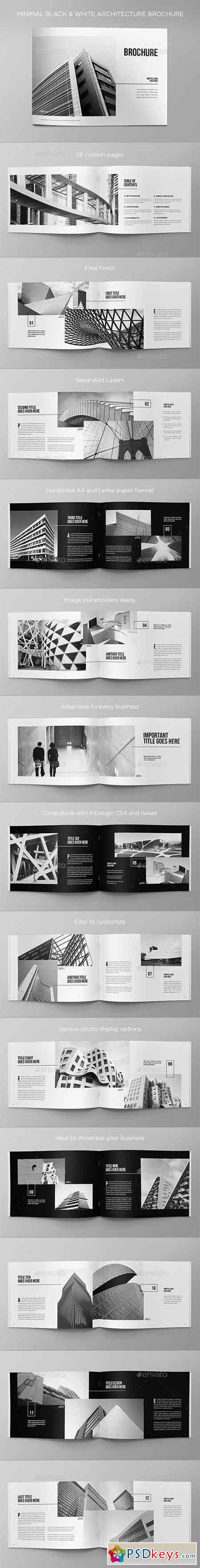 Minimal Black & White Architecture Brochure 20502840