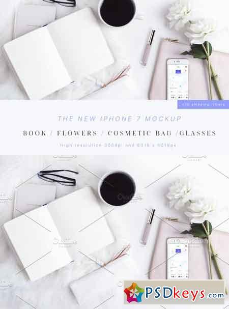 Beauty & Styled iPhone 7 Mockup 1738590