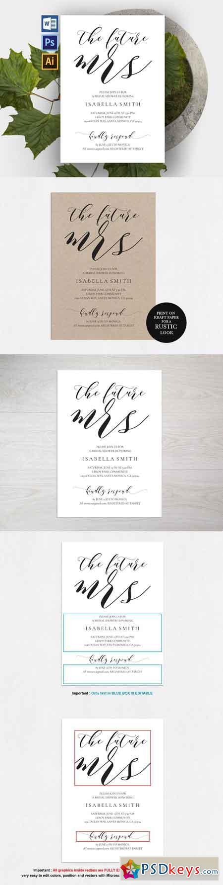 Bridal Shower Invitation Wpc308 1765226