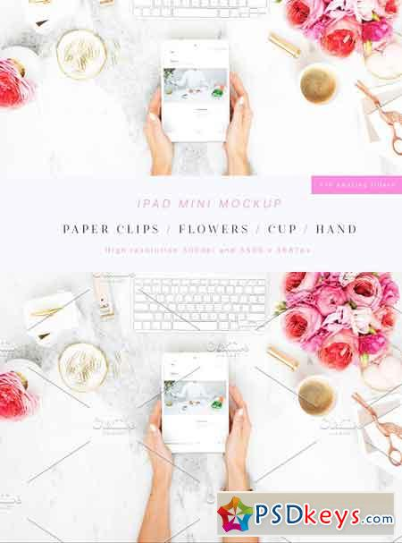 Beauty & Flowers iPad Mini Mockup 1739097