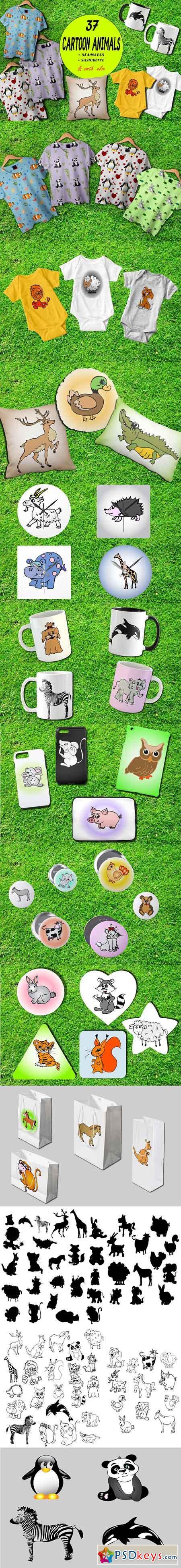 Cartoon animals collection 1739175
