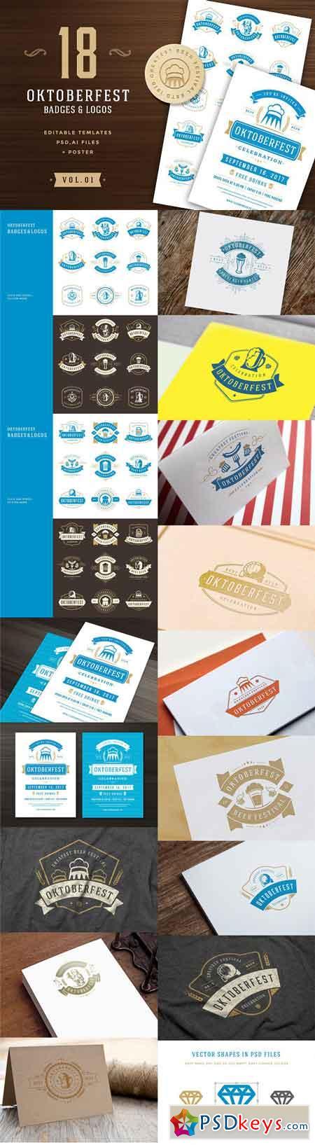 Oktoberfest badges and logos 1759345