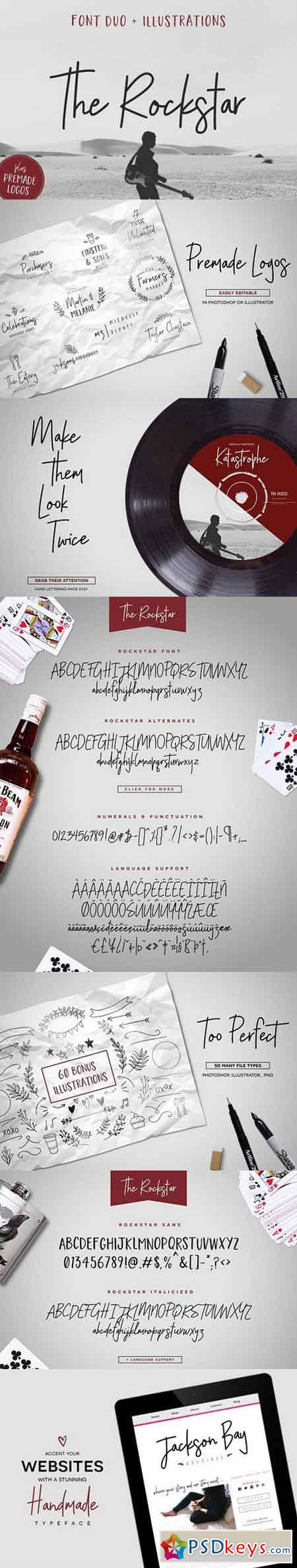 The Rockstar Font Duo (+Extras) 1737213