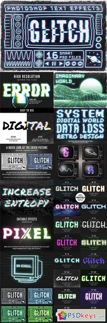 Glitch text effects for Photoshop 1789011