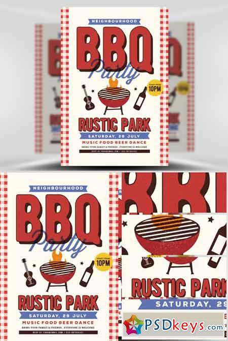 Neighbour BBQ Flyer Template