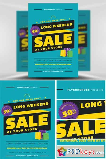 Long Weekend Sale Flyer Template