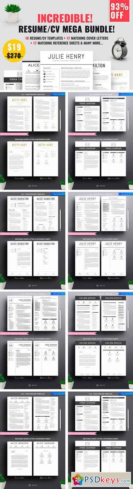 Resume CV Mega Bundle 1740422