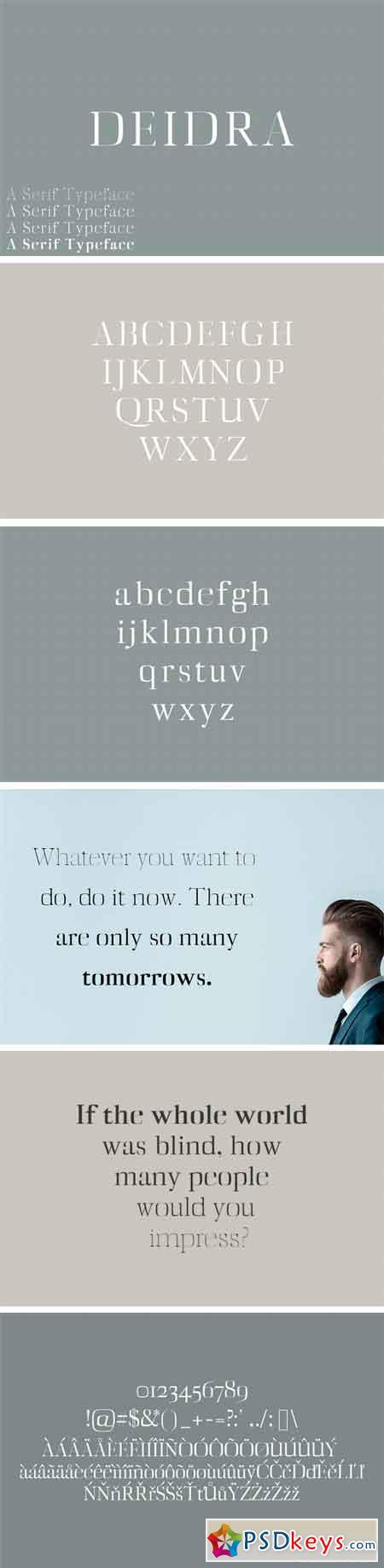 Diedra Serif Typeface 1757769