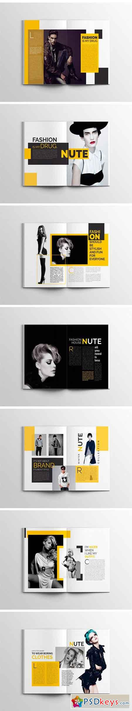 Nute Fashion Magazine Template 1739541