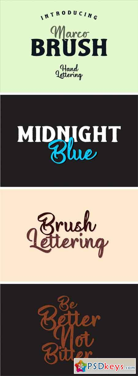 Marco Brush Dual Fonts 1740652