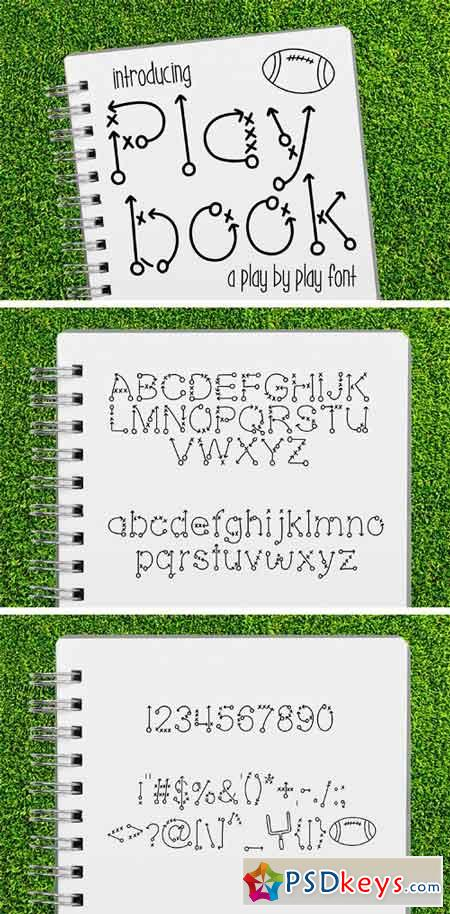 Play Book a Play by Play Font 1758600