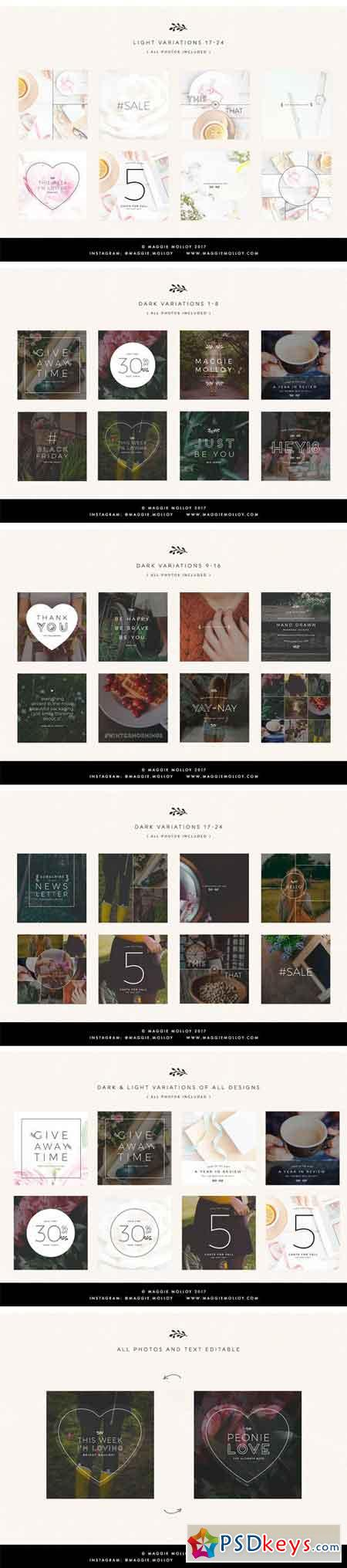 Wildflowers Instagram Template Pack 1758194