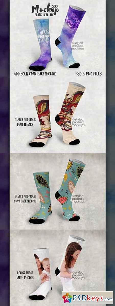 Sublimation Sock Mockup 1745577