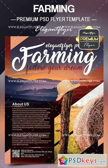 Farming – Flyer PSD Template + Facebook Cover