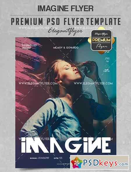 Imagine – Flyer PSD Template + Facebook Cover