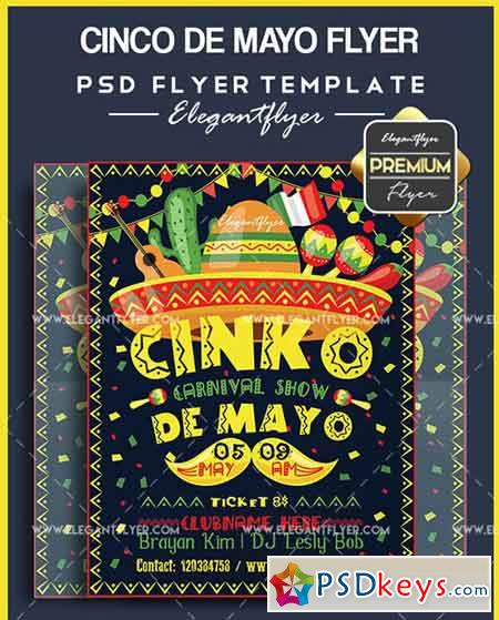 Cinco de Mayo Flyer Templates – Flyer PSD Template + Facebook Cover