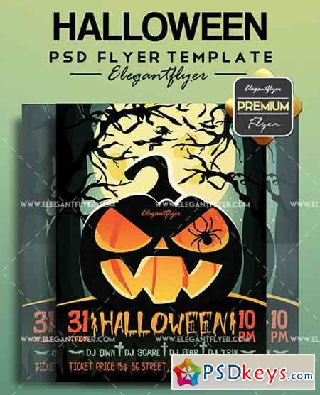 Halloween V03 – Flyer PSD Template + Facebook Cover