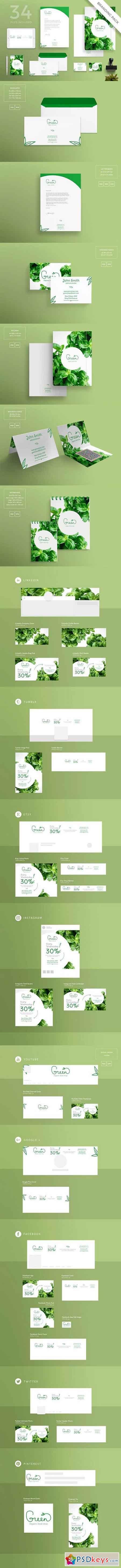Branding Pack Green Shop 1495537