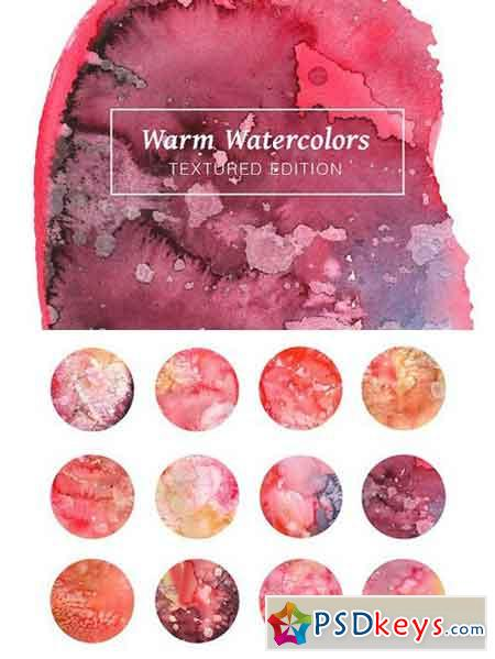 Warm Textured Watercolors 1758781