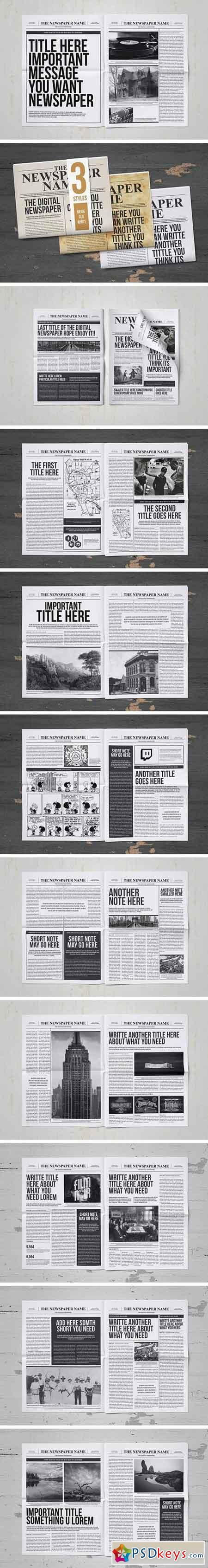 Classy Newspaper Indesign Template 863975 » Free Download Photoshop ...