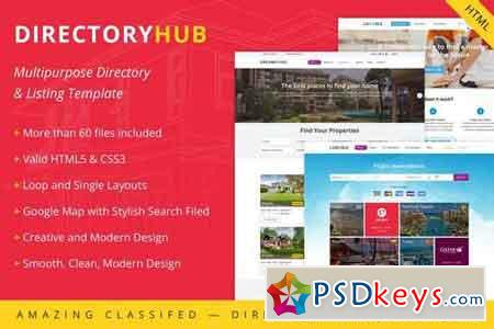 DirectoryHub - Multipurpose Bootstrap 4 Directory and Listing HTML Template 20442826