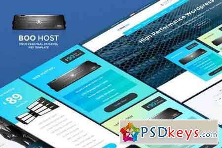 Boo Host - Professional Cloud Hosting PSD Template