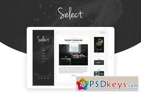 Select - Personal Blog Template
