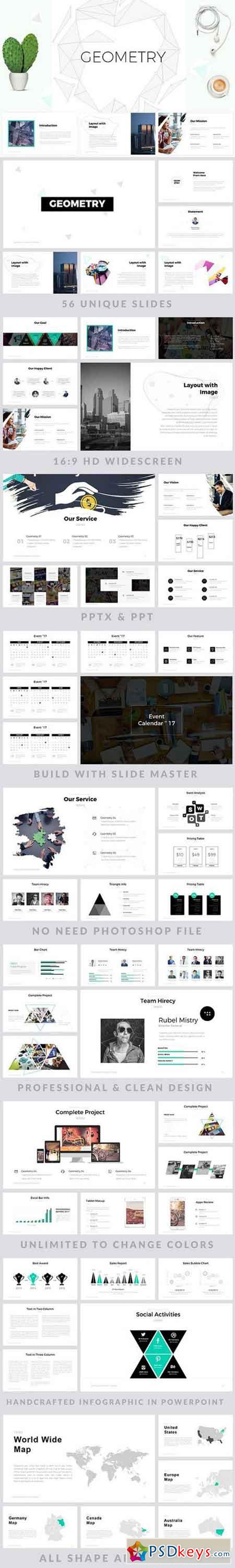Geometric PowerPoint Template 1250404