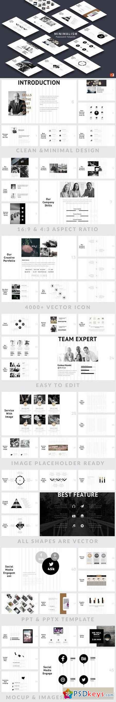 Minimalism PowerPoint Template 1246271