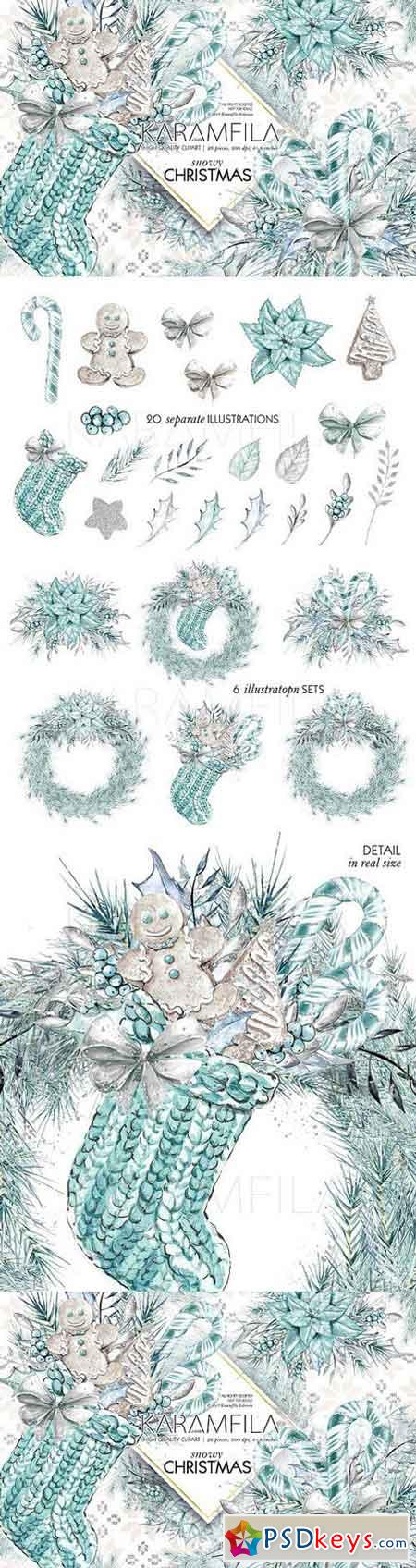 Silver Christmas Clipart 1760075