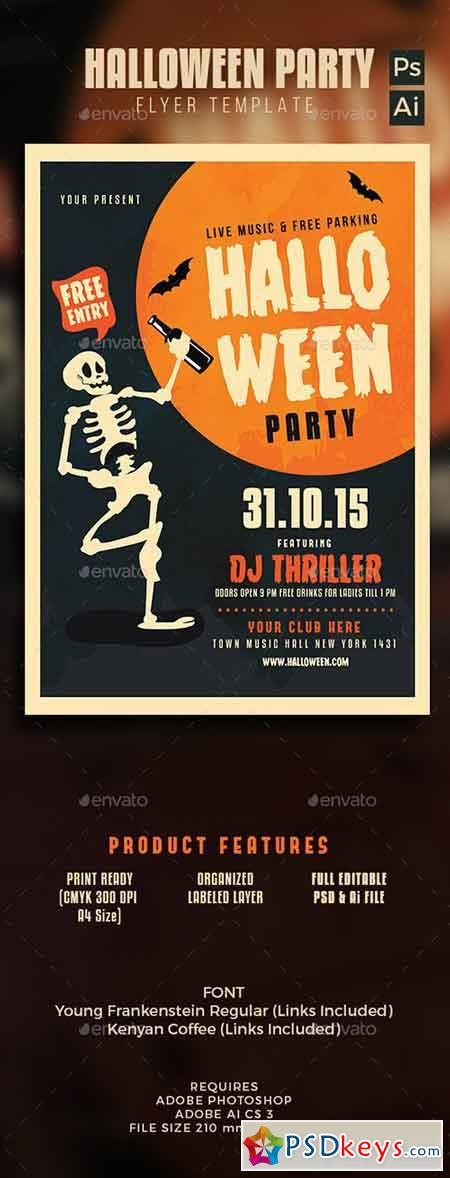 Halloween Skull Party 12993675