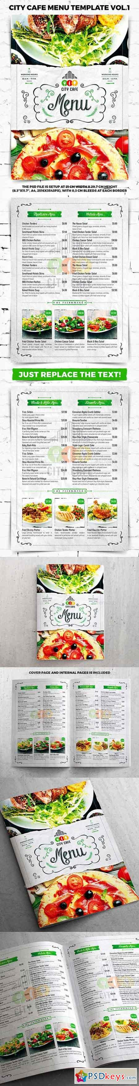 City Cafe Menu Template vol.1 20520551